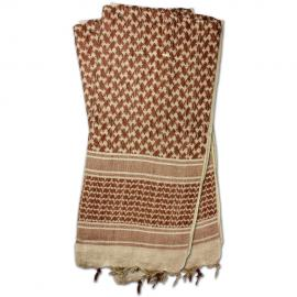 Shemagh Head Wrap Tan / Brown