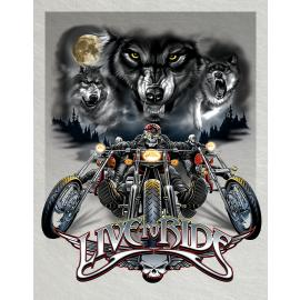 Live To Ride Wolves