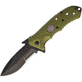 US Marines Linerlock A / O Green