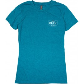 Womens Crew Neck Tee Teal XXL