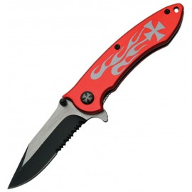 Flame Linerlock A / O Red
