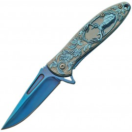 Deer Framelock A / O Blue