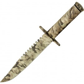 Hunters Camo Survival Knife